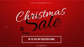 Christmas sale video facebook template