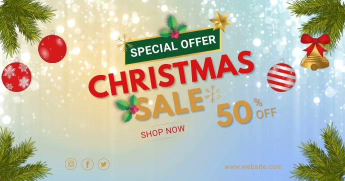 christmas sale video facebook share template