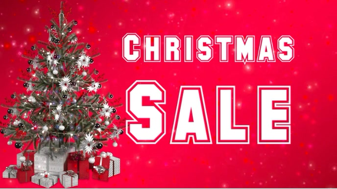 Christmas sale video flyer
