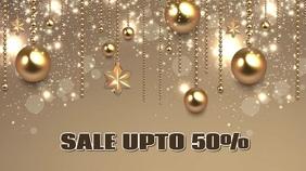 Christmas sale video flyer