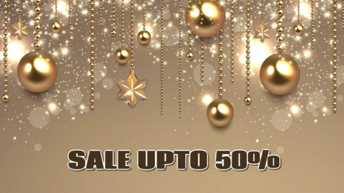 Christmas sale video flyer Digital na Display (16:9) template