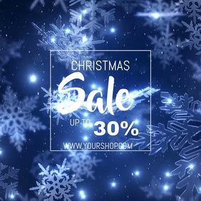Christmas sale video flyer template