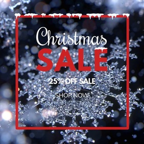 Christmas Sale Video Glitter Stars Snow Flake