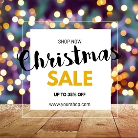christmas sale video light shine discount ad