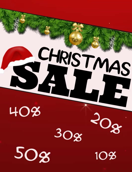 Christmas Sale Video Flyer Template  Postermywall