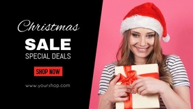 Christmas Sale video Shop Promo Offer Ad Gift woman store