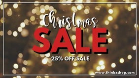 Christmas Sale video snow flakes advert promo store retail