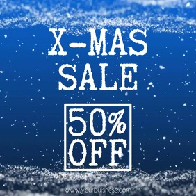 christmas sale video snow promo instagram