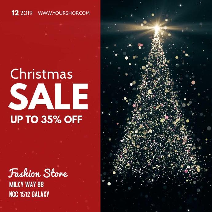 Christmas Sale video Square Tree Glitter Glam