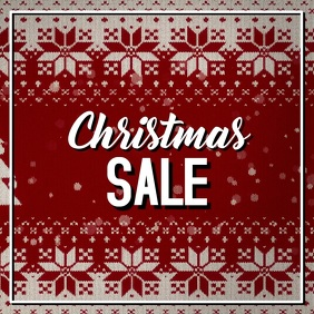Christmas Sale Video Sweater Advert Square Retail Fashion