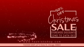 Christmas Sale Video Template Digital Display (16:9)