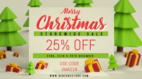 Christmas Sale Video Template Digitale Vertoning (16:9)