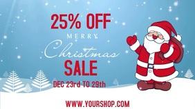 Christmas Sale Video Template Digitale Vertoning (16:9)