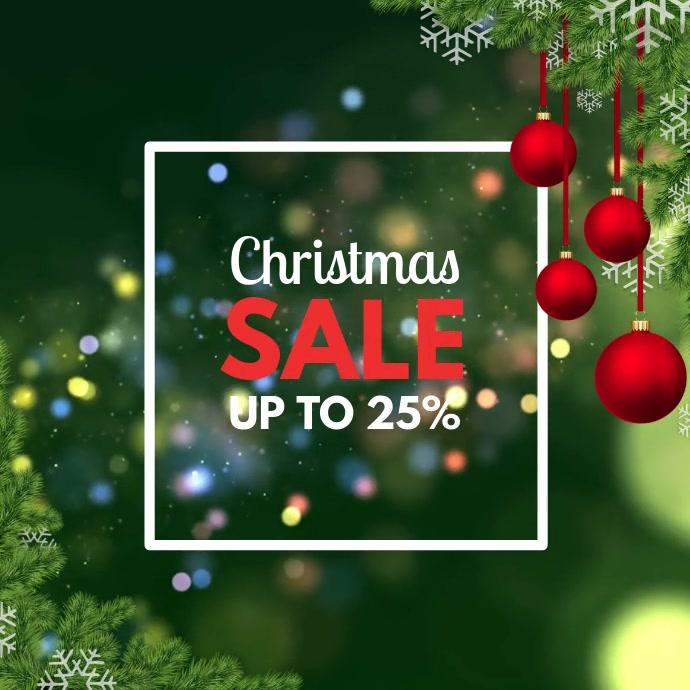Christmas Sale Video Twig Light Shine Promo