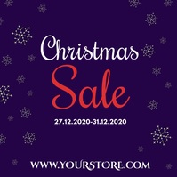 Christmas Sale Winter 50% Discount Retail Ad