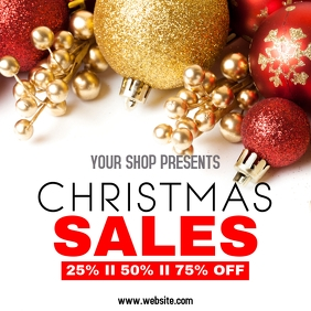 christmas sales 25 50 75 % off