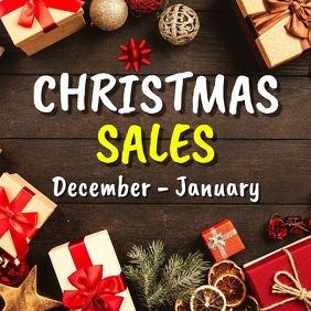 Christmas sales advertisement Pos Instagram template
