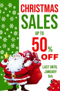 Christmas sales advertisement poster design