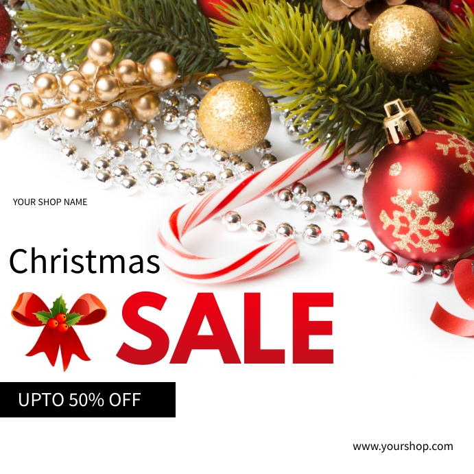 Christmas sales Wpis na Instagrama template