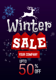 christmas sales A5 template