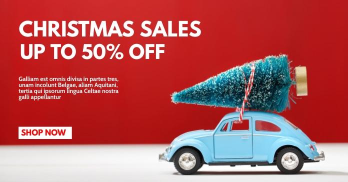 christmas sales facebook post advertisement r template