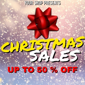 Christmas sales Instagram Post 50%off template