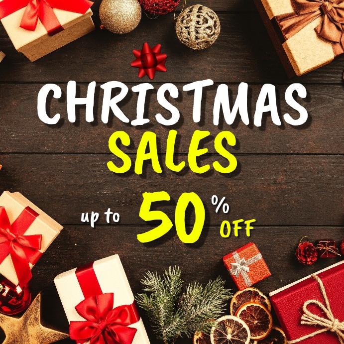 Christmas sales instagram post