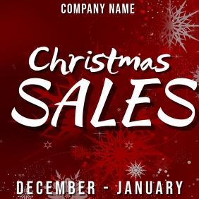Christmas sales instagram post design