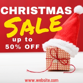 Christmas sales instagram poster template