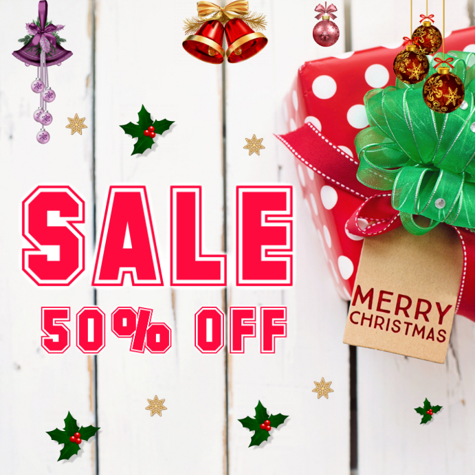 Christmas sales on retail Shopping