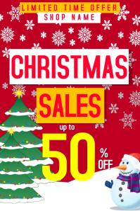 Christmas sales poster even for social media Plakat template