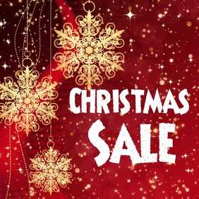 Christmas sales video flyer