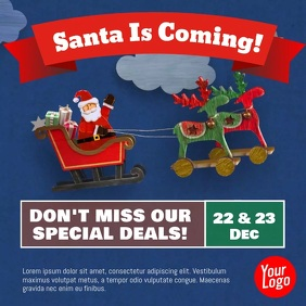 Christmas Santa Claus Animation Pos Instagram template