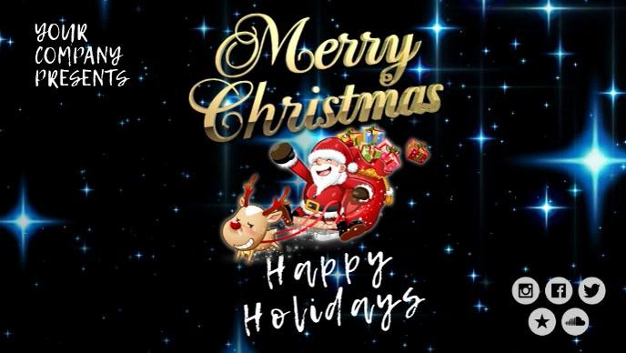 Christmas santa Facebook video