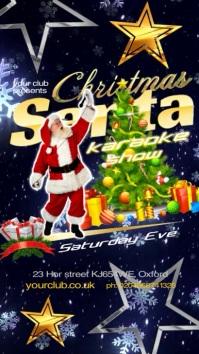 Christmas Santa Karaoke Show Affichage numérique (9:16) template