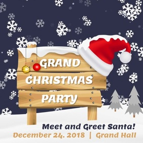 Christmas Santa Meet and Greet Event Animated Video Vierkant (1:1) template