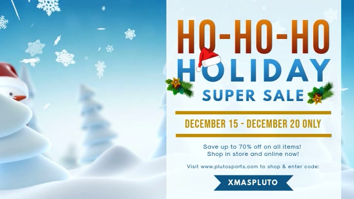 Christmas Santa Sale on Apparel Facebook Cover Video