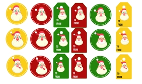 Christmas Santa Tags and Stickers Tanda template