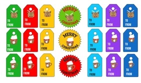 Christmas Santa Tags and Stickers