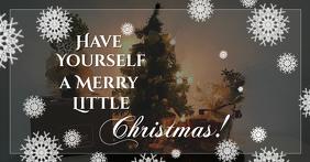 Christmas scene Facebook postcard