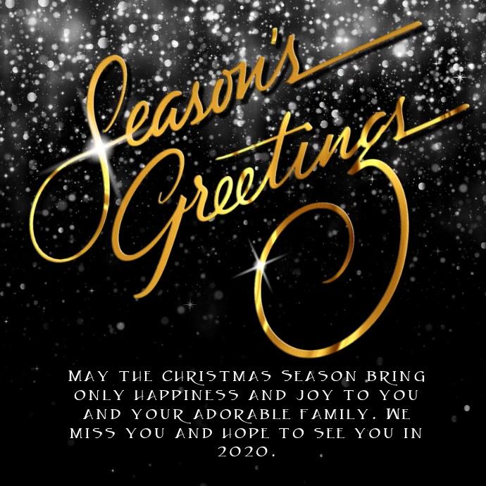 Christmas Seadson Greetings Instagram