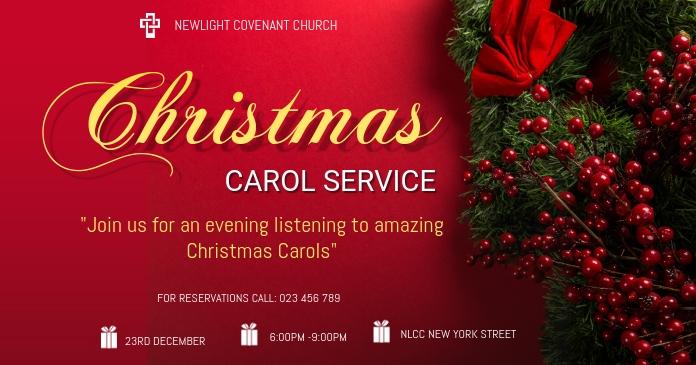 Christmas service Gedeelde afbeelding op Facebook template
