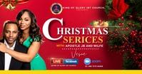 Christmas service delt Facebook-billede template