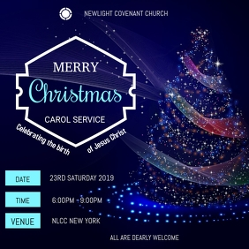 Christmas service Instagram Plasing template