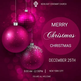 Christmas service Message Instagram template