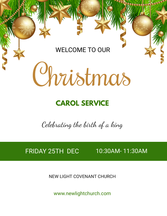 Christmas Service flyer Pamflet (Letter AS) template
