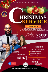 Christmas service flyer Poster template