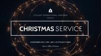 christmas service flyerr Tampilan Digital (16:9) template