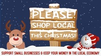 Christmas Shop Locally Video Template Digital Display (16:9)