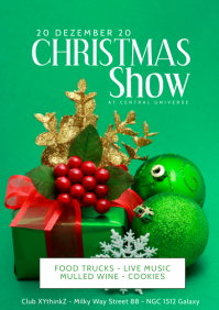 Christmas Show Event Party Invitation Flyer